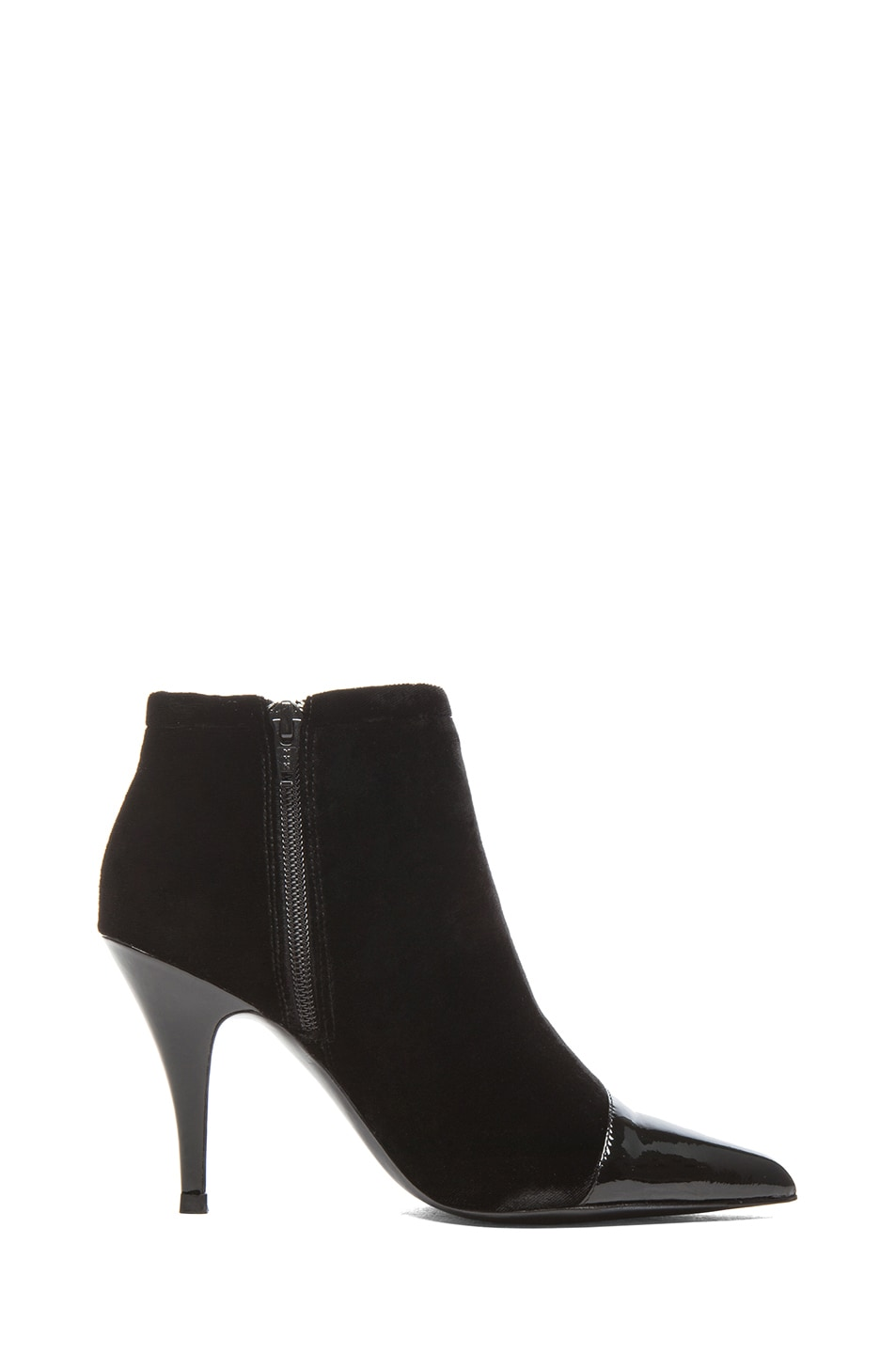 Image 5 of 3.1 phillip lim Quill Velvet & Leather Booties in Black