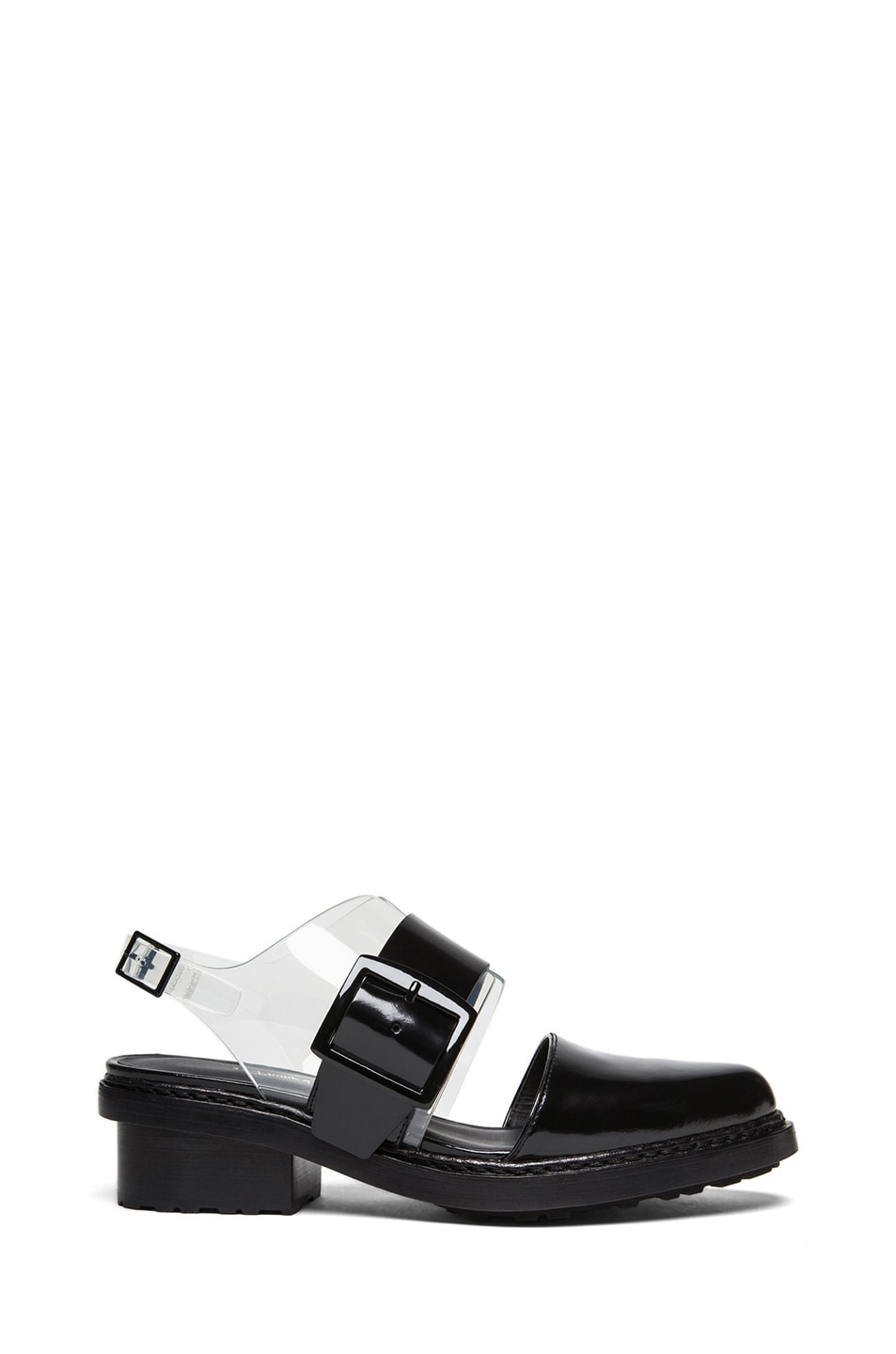 Image 1 of 3.1 phillip lim Cristobal Closed Toe Pvc & Leather Slingbacks in Black & Clear