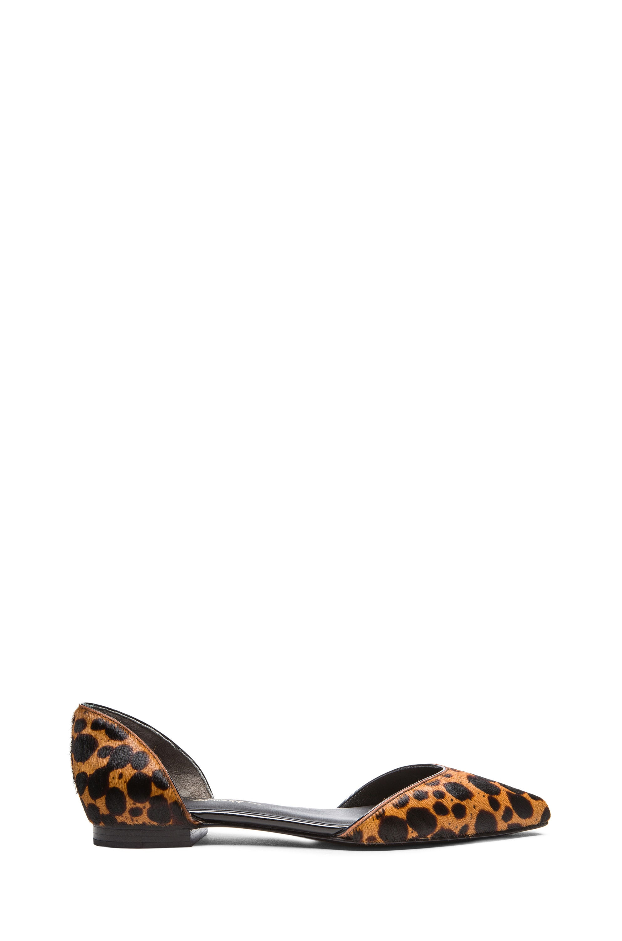 Image 1 of 3.1 phillip lim Devon D'Orsay Calf Hair Flats in Tan Multi
