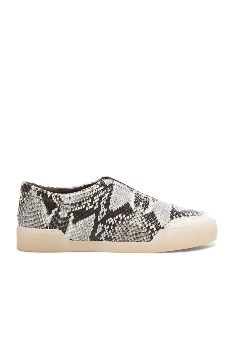 Image 1 of 3.1 phillip lim Morgan Python Print Low Top Leather Sneakers in Off White
