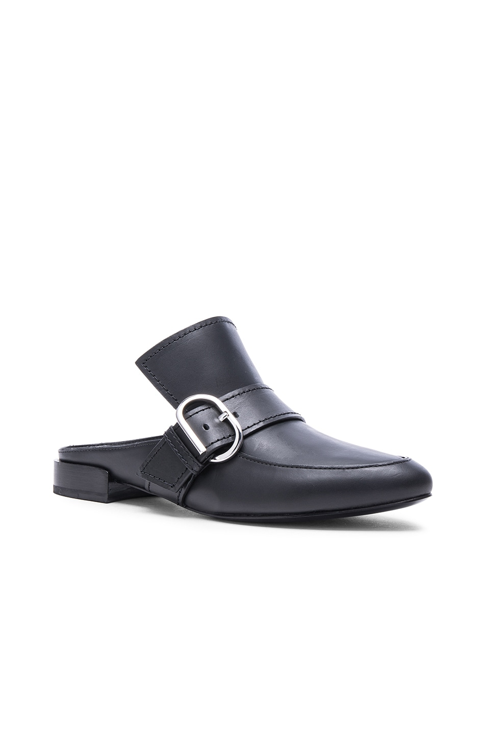 Image 2 of 3.1 phillip lim Louie Leather Mule Flats in Black