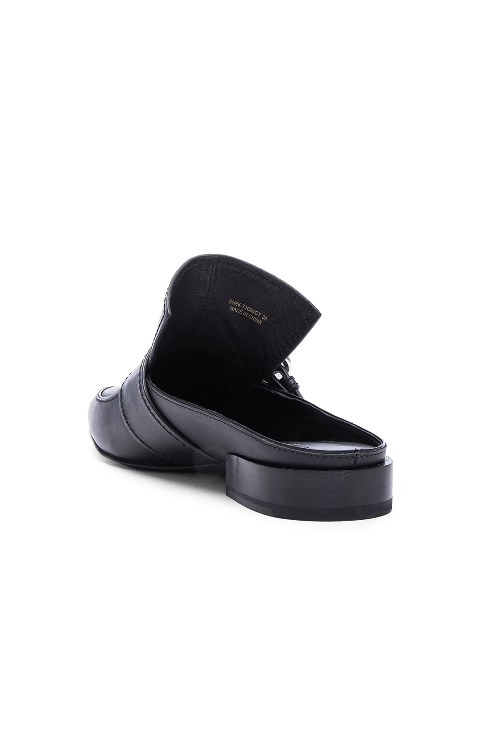 Image 3 of 3.1 phillip lim Louie Leather Mule Flats in Black