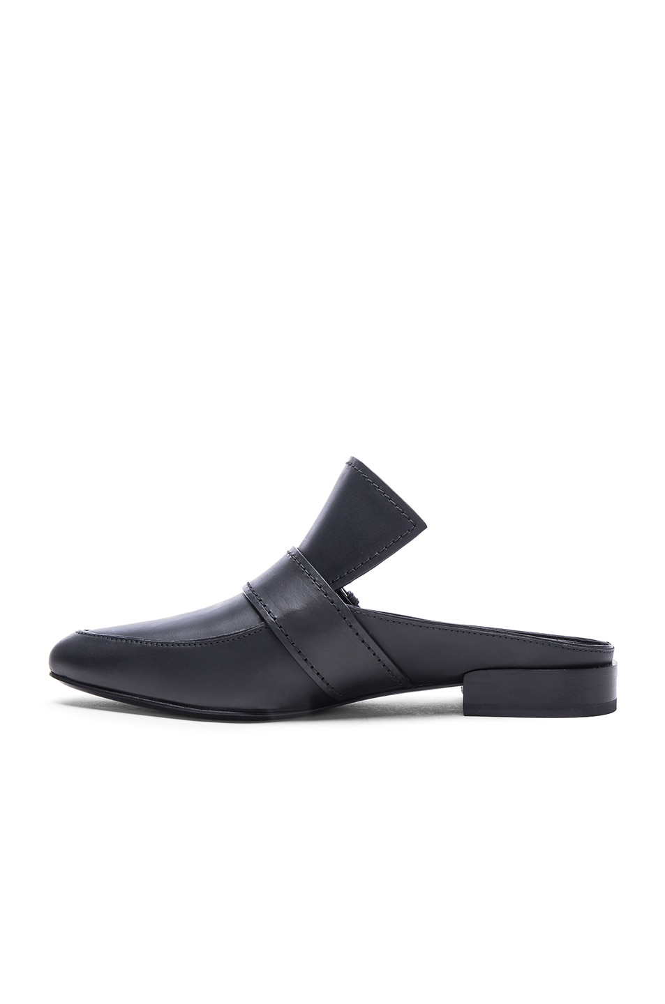Image 5 of 3.1 phillip lim Louie Leather Mule Flats in Black