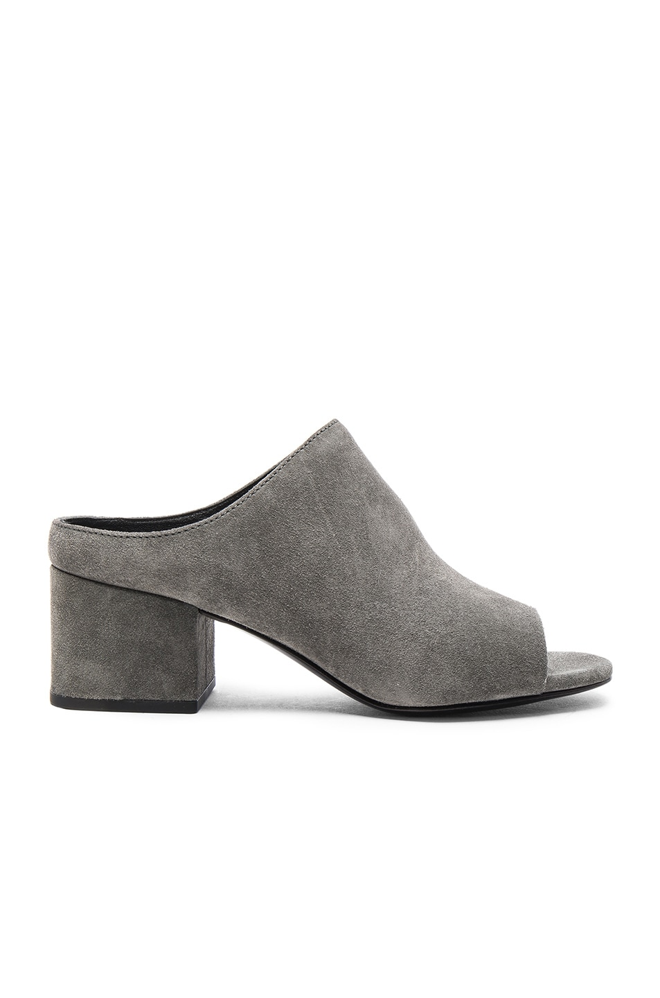 Image 1 of 3.1 phillip lim Suede Cube Mules in Stone