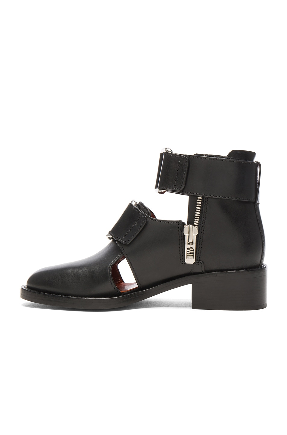 Image 5 of 3.1 phillip lim Leather Addis Cut Out Boots in Black