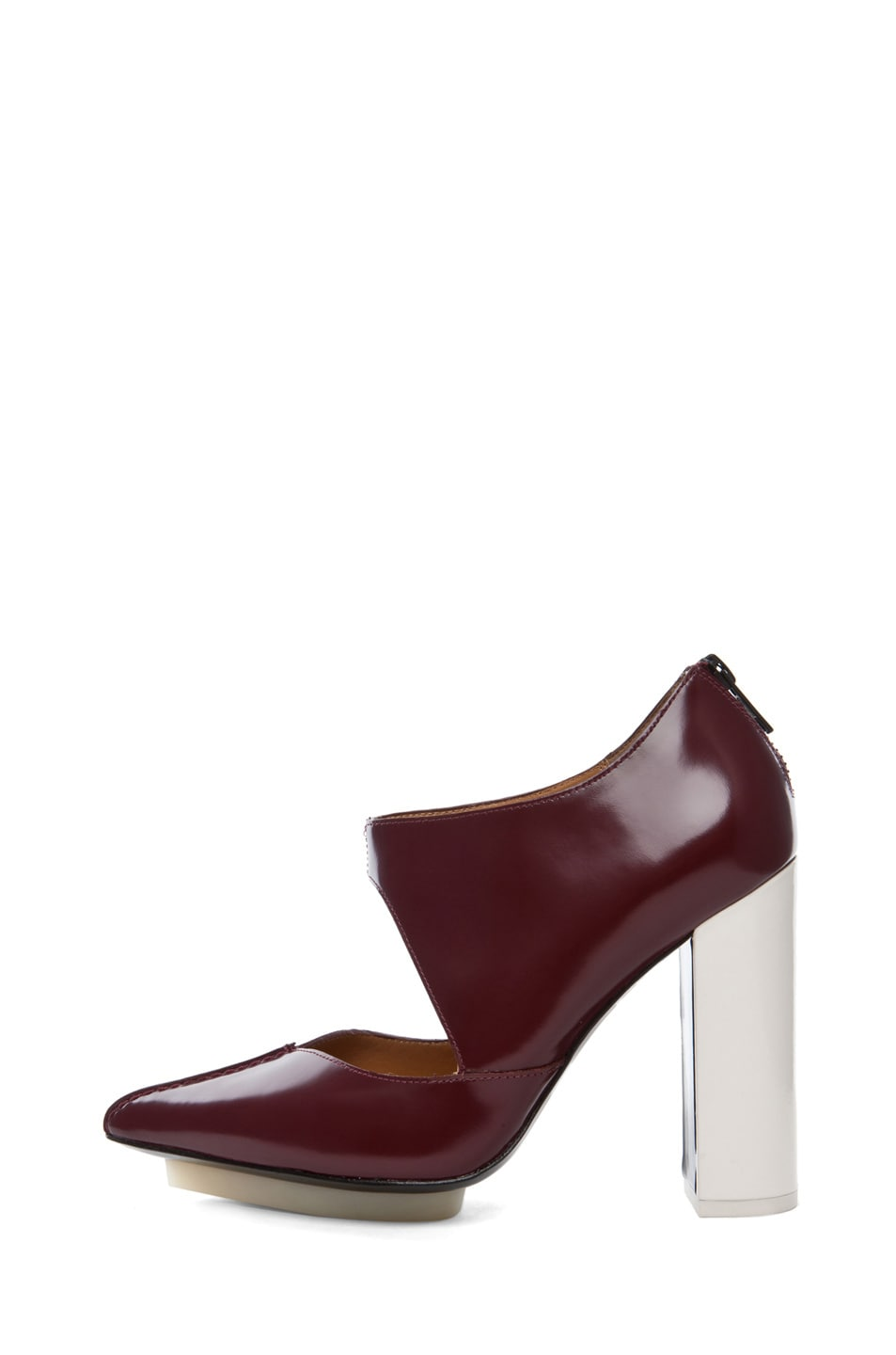 Image 1 of 3.1 phillip lim Kadie Cut Out Bootie in Prune