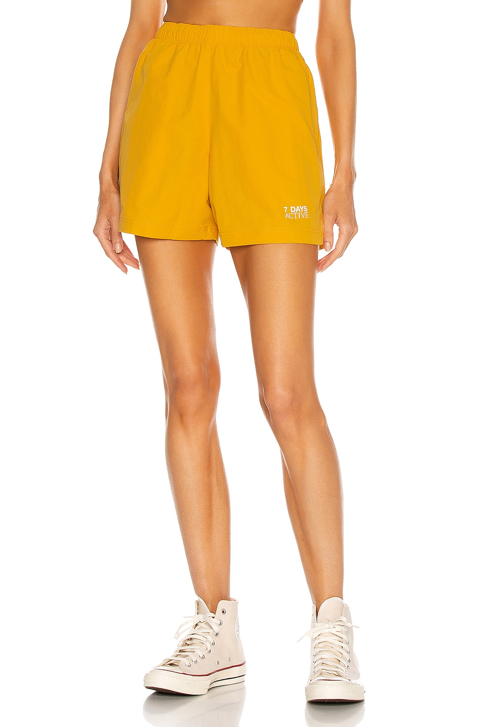 Image 1 of 7 Days Active Champion Shorts in Yellow