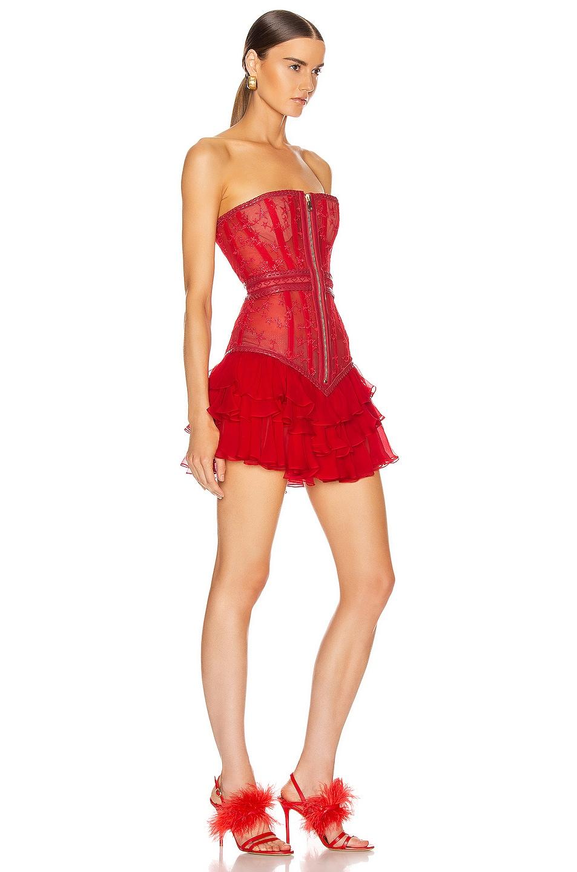Image 2 of Aadnevik Bustier Mini Dress in Red