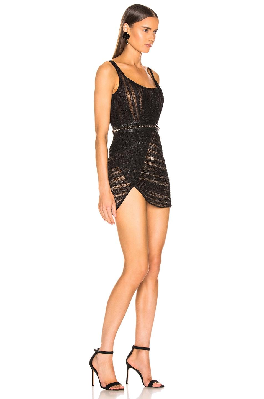 Image 2 of Aadnevik Bustier Lace Mini Dress in Black