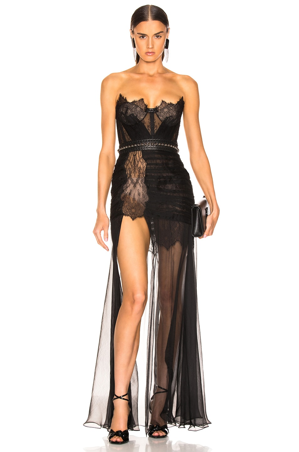 Image 1 of Aadnevik Bustier Gown in Black