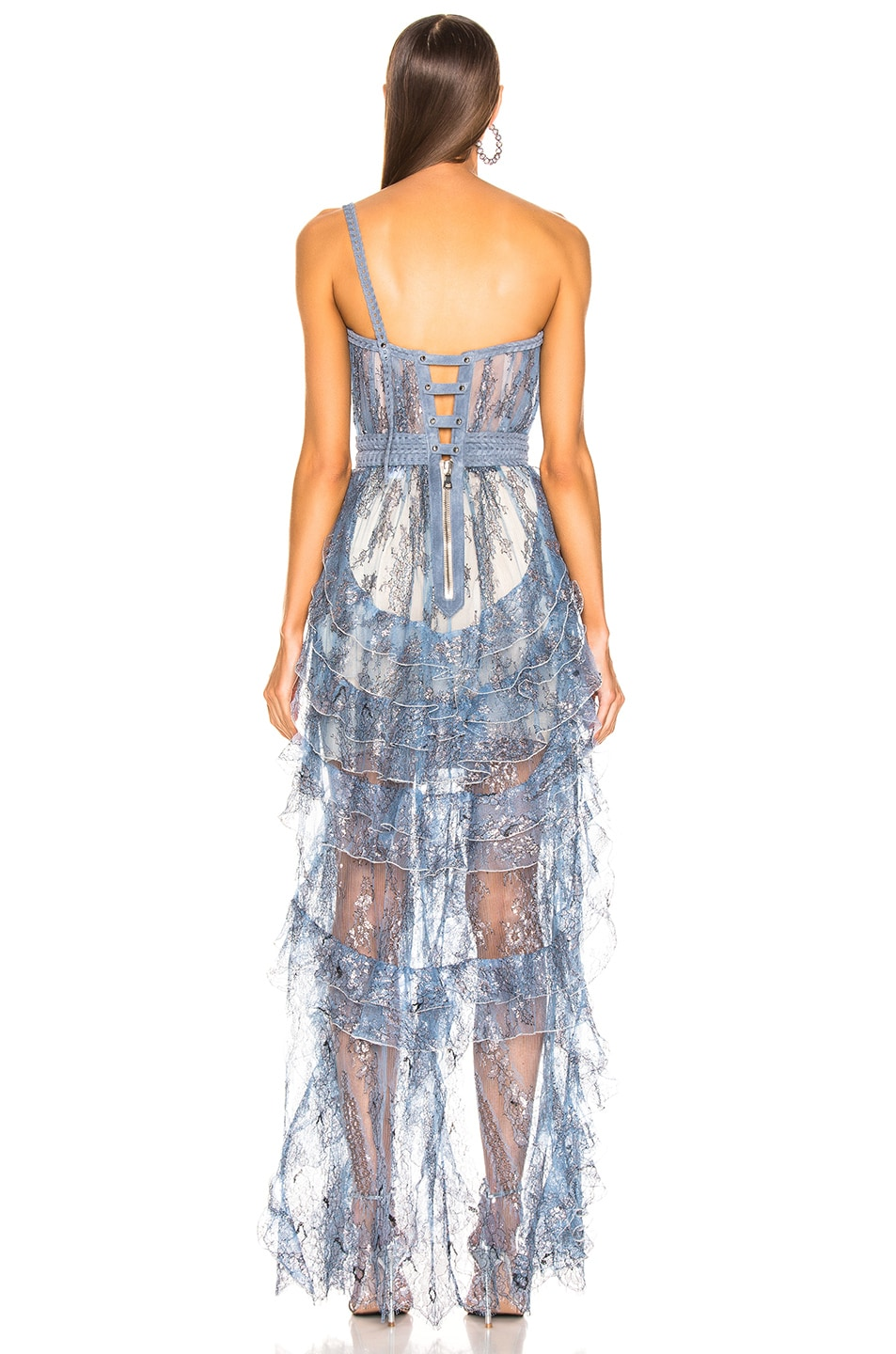 Image 4 of Aadnevik Sparkling Lace Bustier Gown in Blue