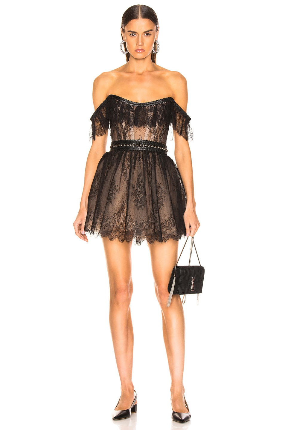 Image 1 of Aadnevik Lace Mini Dress in Black