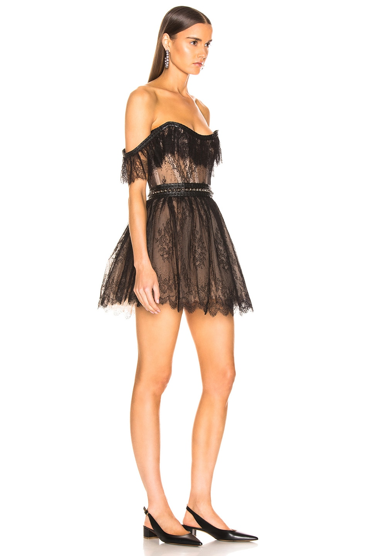 Image 2 of Aadnevik Lace Mini Dress in Black