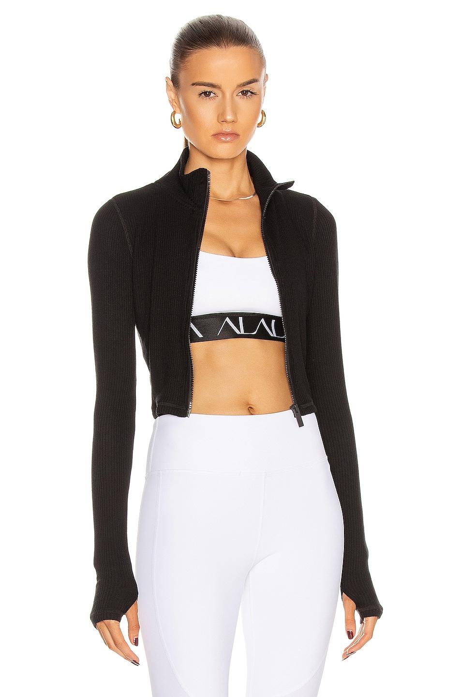 Image 1 of ALALA Rise Zip Up Jacket in Black