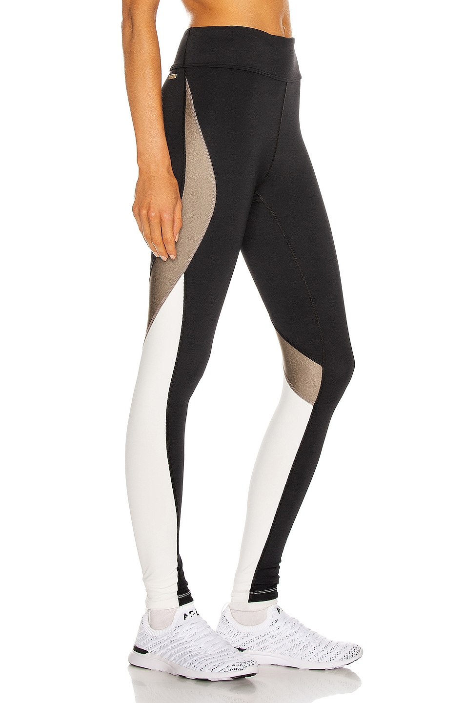 Image 1 of ALALA Edge Ankle Tight Legging in Gold Dust