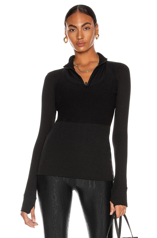 Image 1 of ALALA Rise Quarter Zip Top in Black