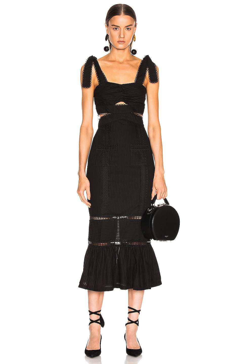 Image 1 of Alice McCall A Foreign Affair Midi Dress in Black