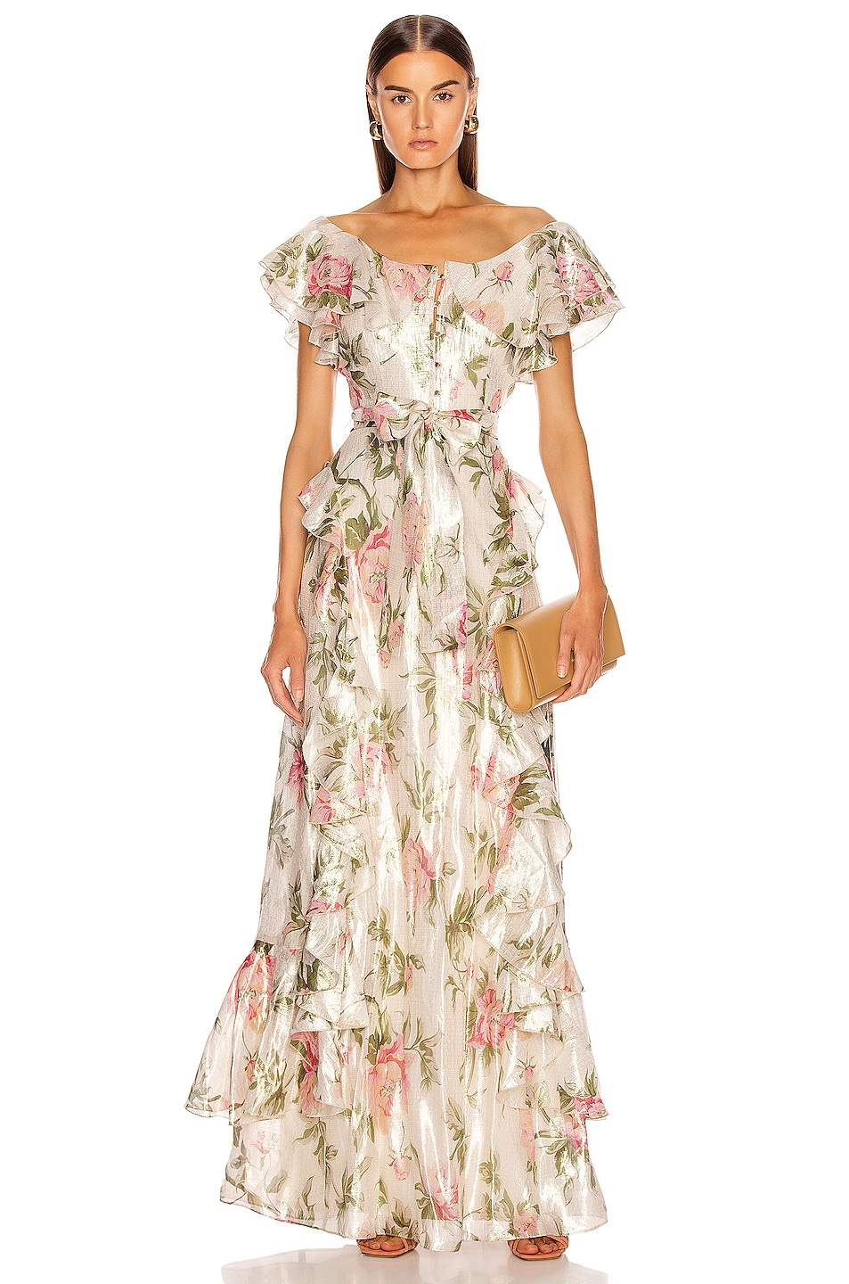 Image 1 of Alice McCall Salvatore Gown in Floral Gold