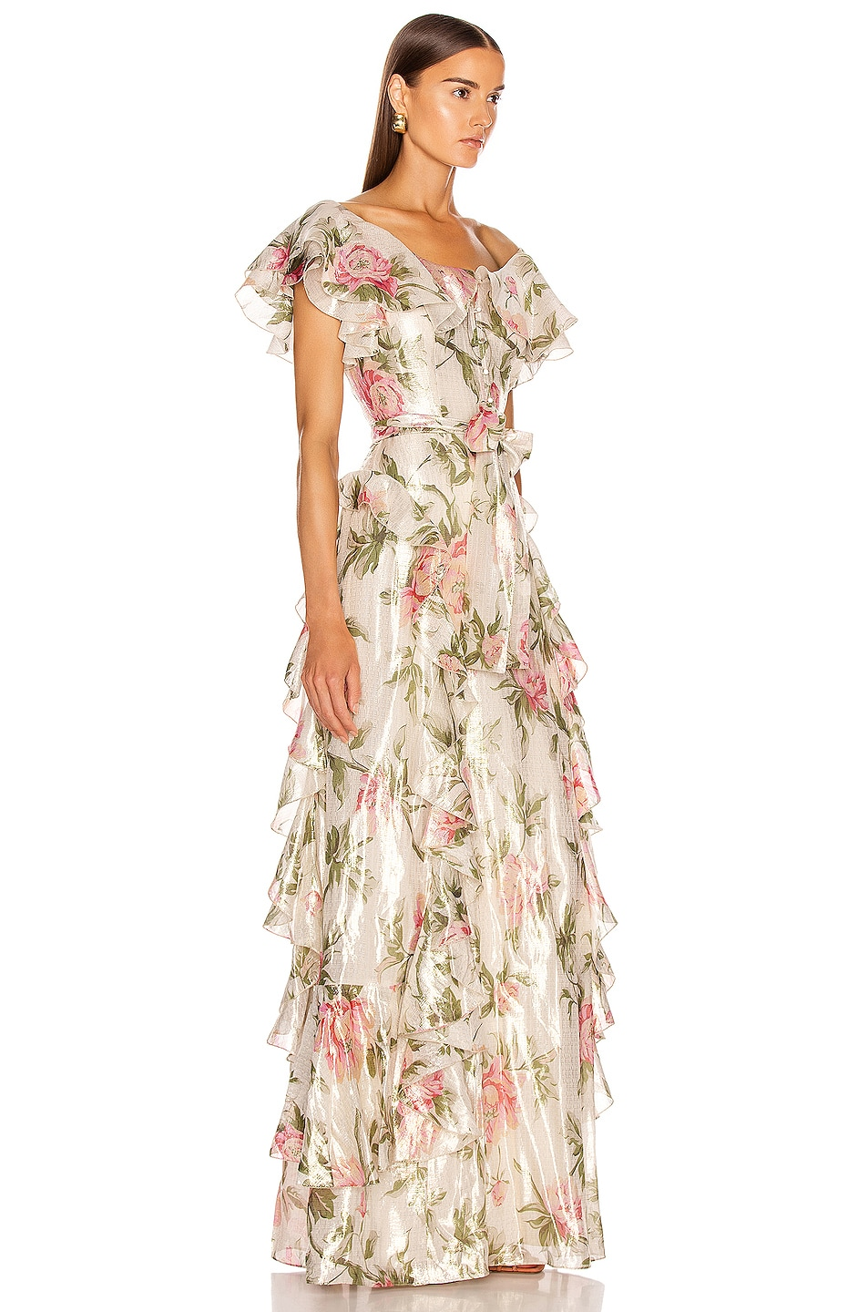 Image 2 of Alice McCall Salvatore Gown in Floral Gold