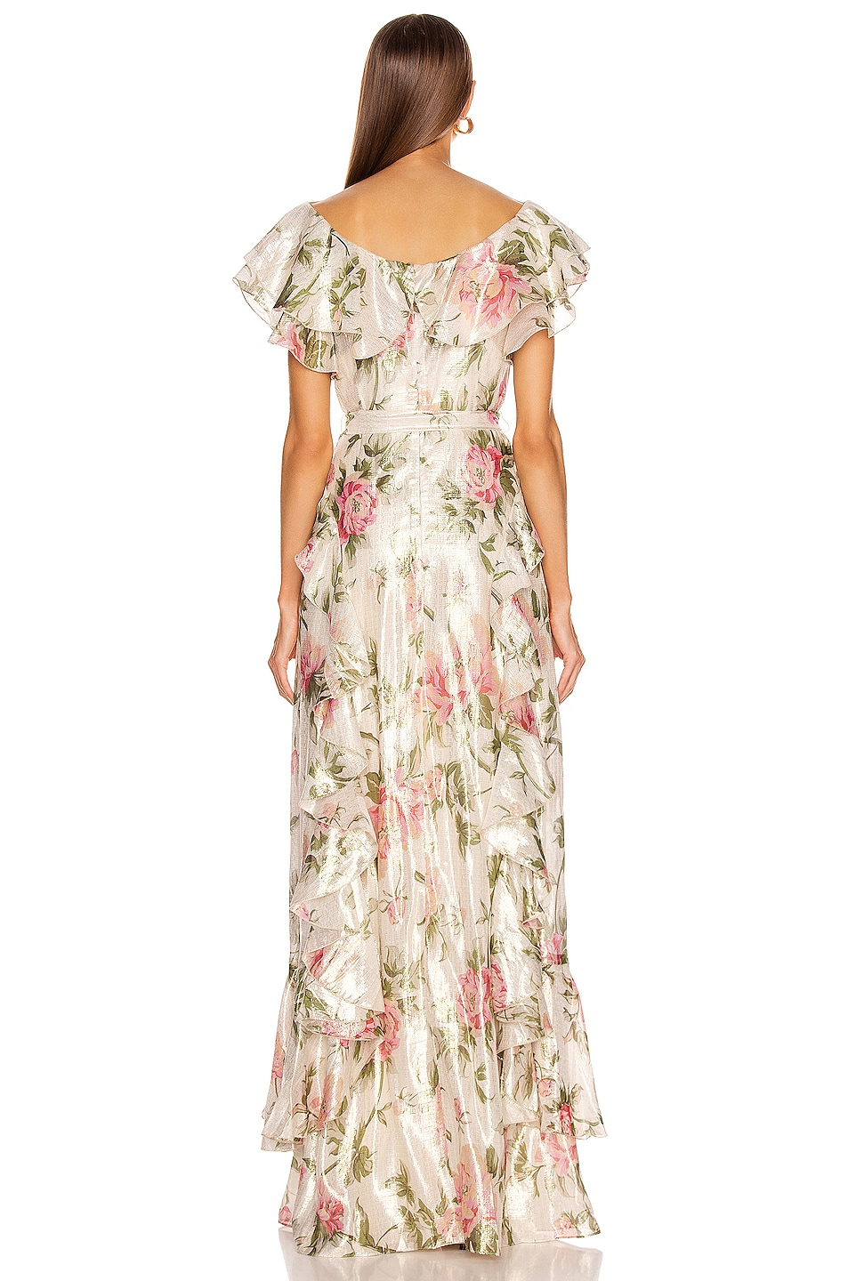 Image 3 of Alice McCall Salvatore Gown in Floral Gold