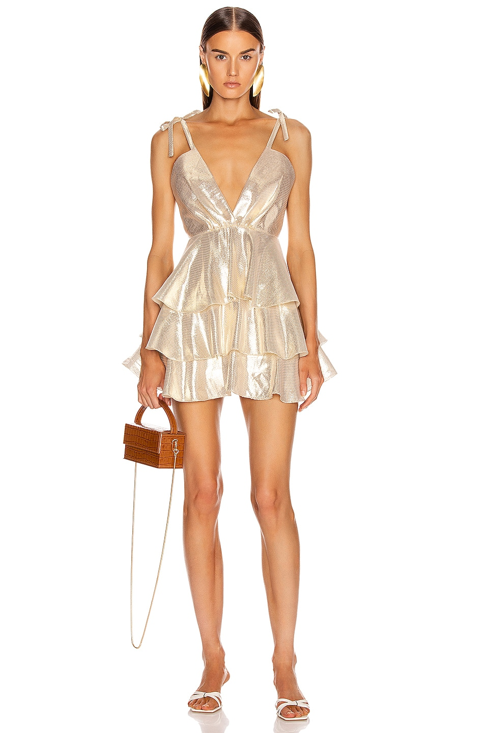 Image 1 of Alice McCall Astral Plane Mini Dress in Gold