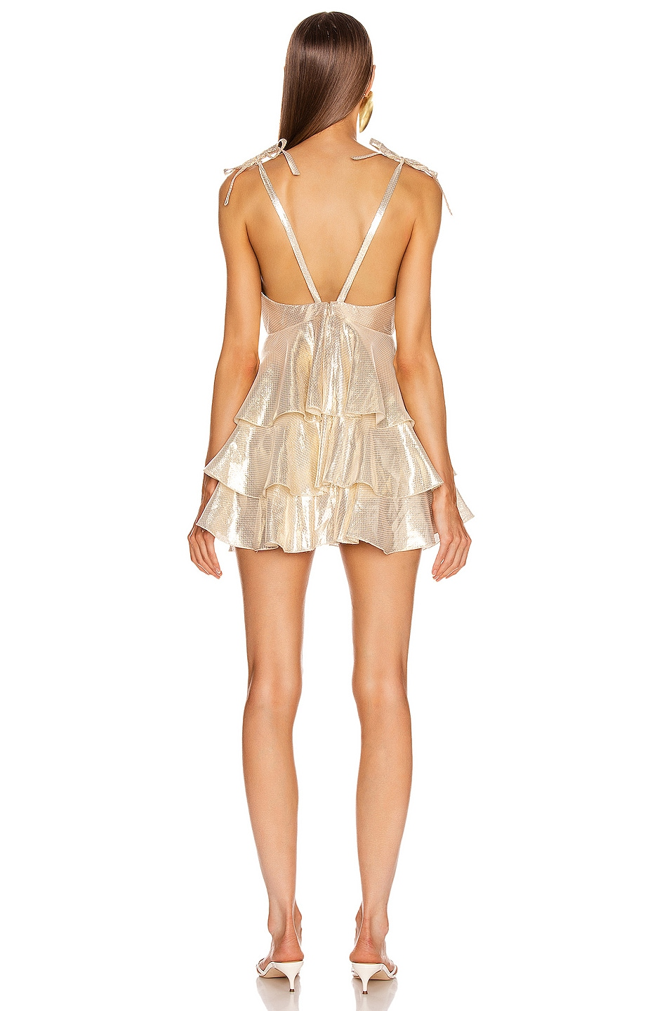 Image 3 of Alice McCall Astral Plane Mini Dress in Gold