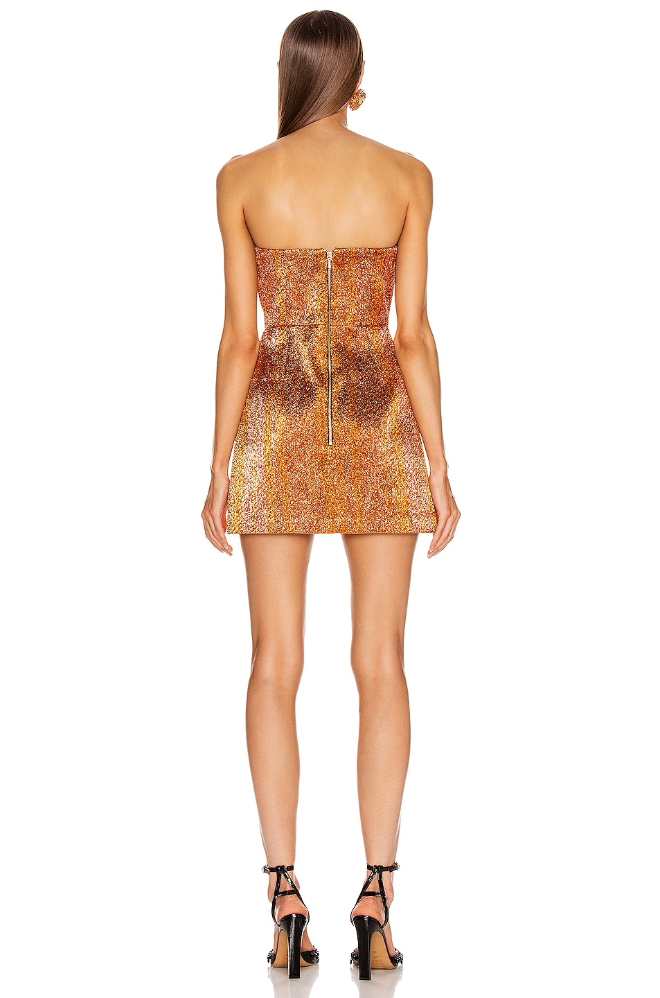 Image 3 of Alice McCall Electric Nights Mini Dress in Copper