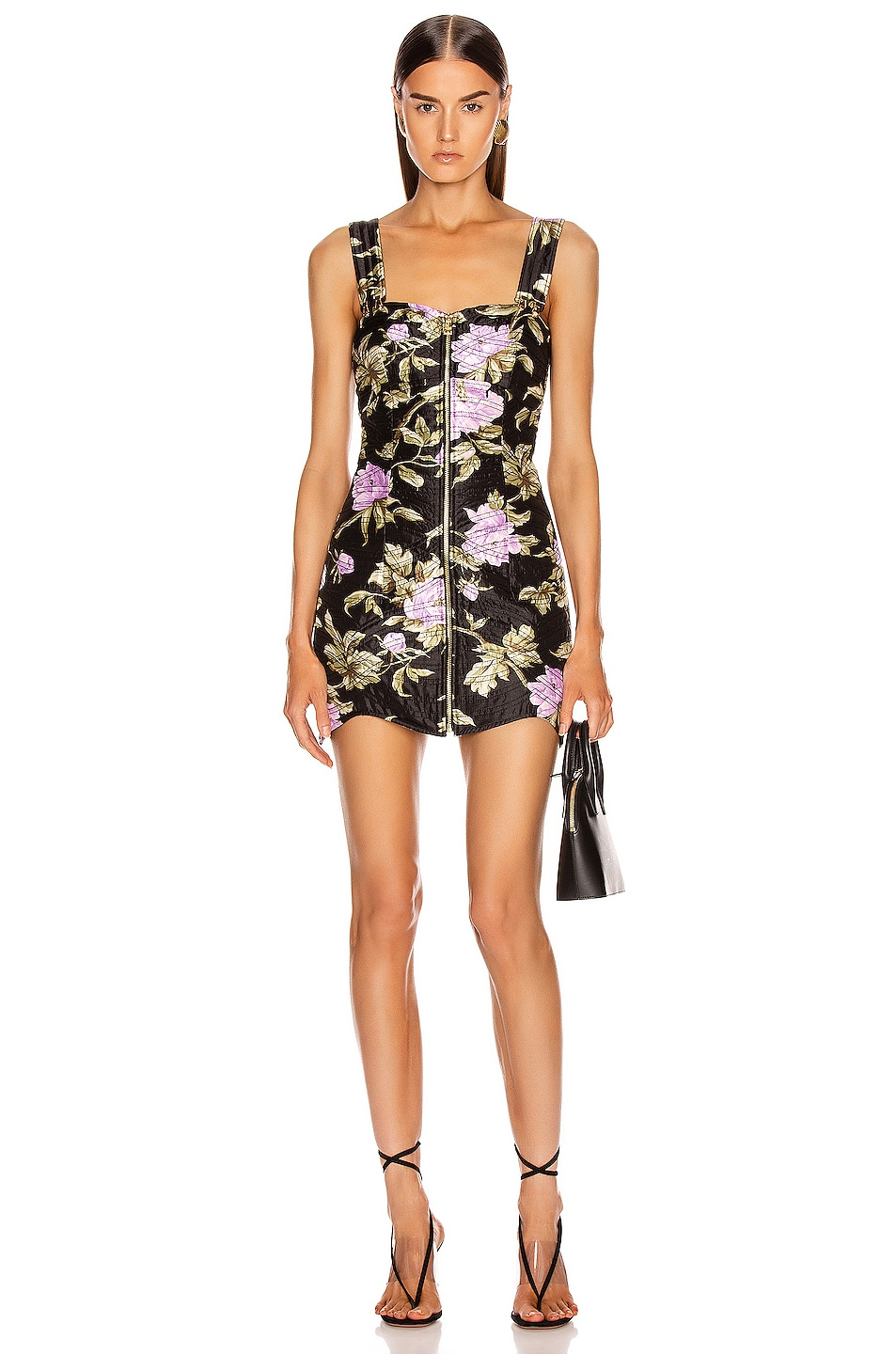 Image 1 of Alice McCall Wild Flowers Mini Dress in Black