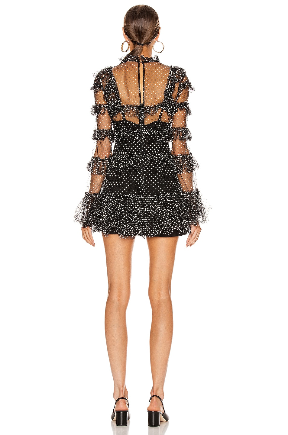 Image 3 of Alice McCall Tokyo Skies Mini Dress in Black