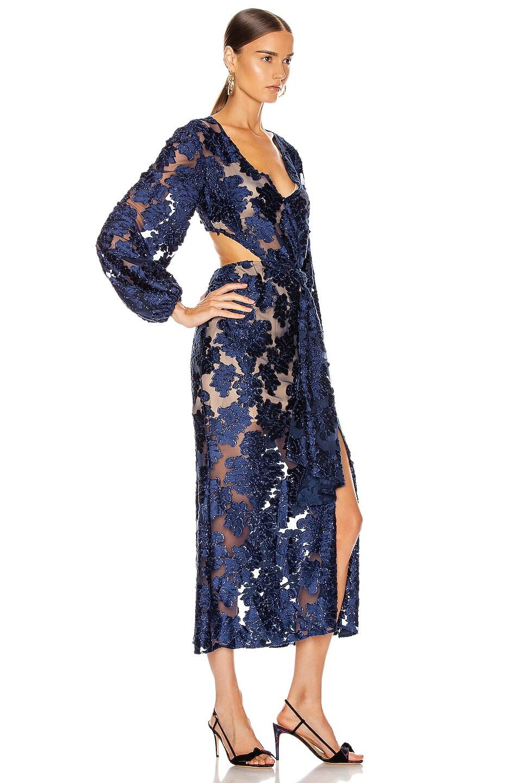 Image 2 of Alice McCall Magic Moonlight Midi Knot Dress in Indigo