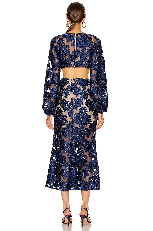 Image 4 of Alice McCall Magic Moonlight Midi Knot Dress in Indigo