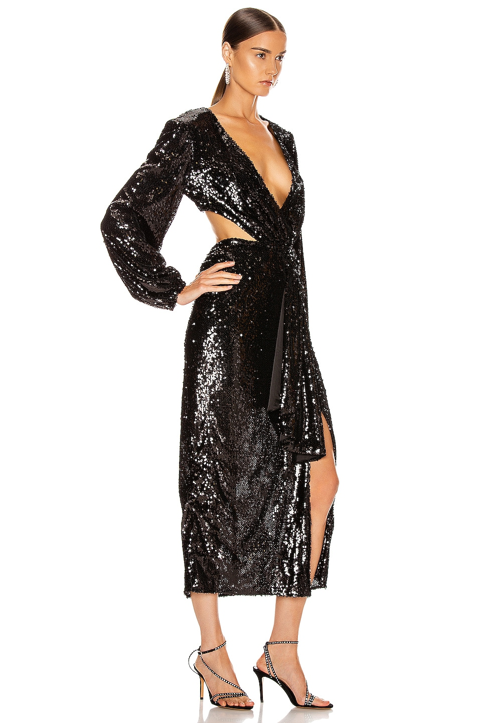 Image 2 of Alice McCall Electric Orchid Gown in Black