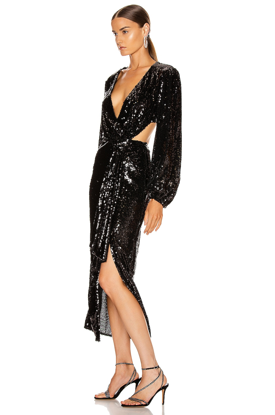 Image 3 of Alice McCall Electric Orchid Gown in Black