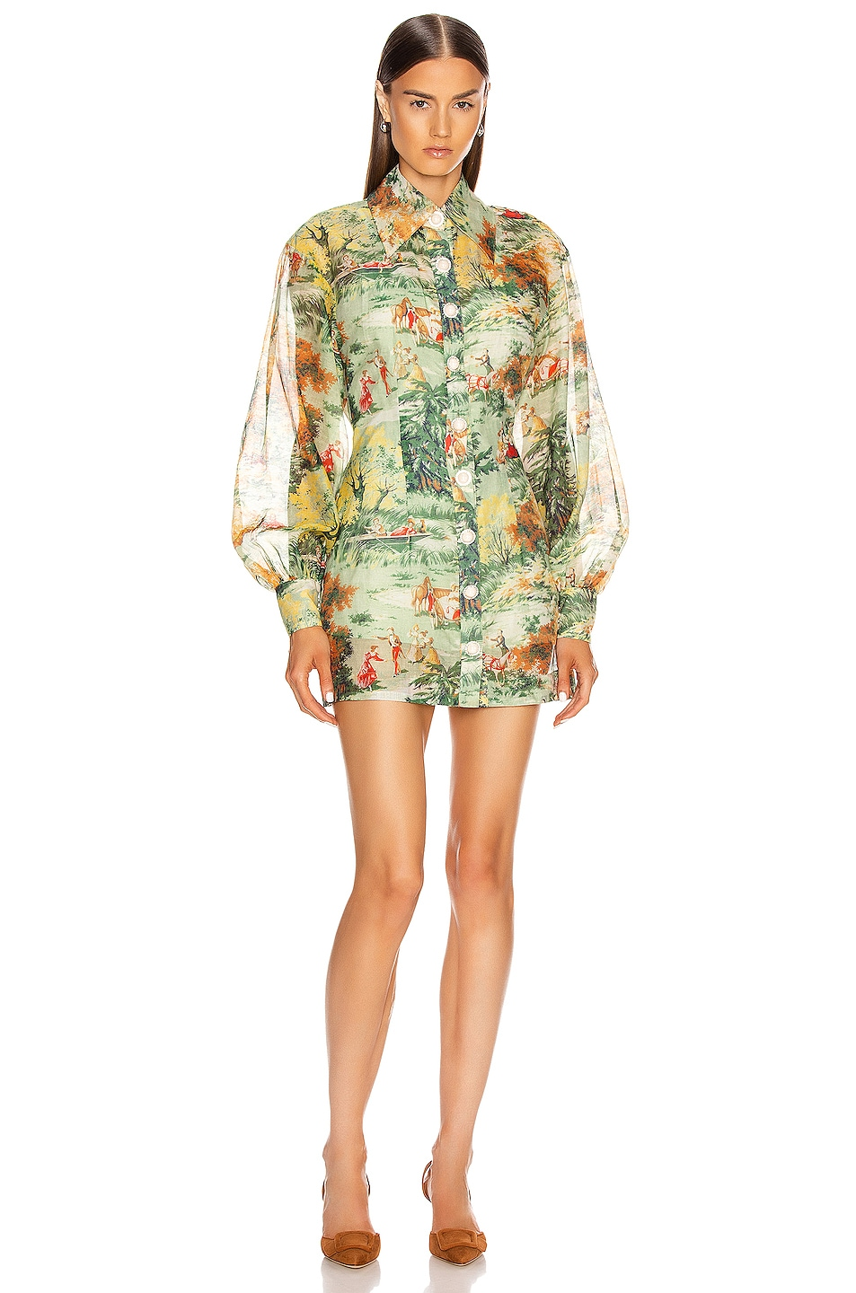 Image 1 of Alice McCall Strange Dreams Shirt Dress in Green