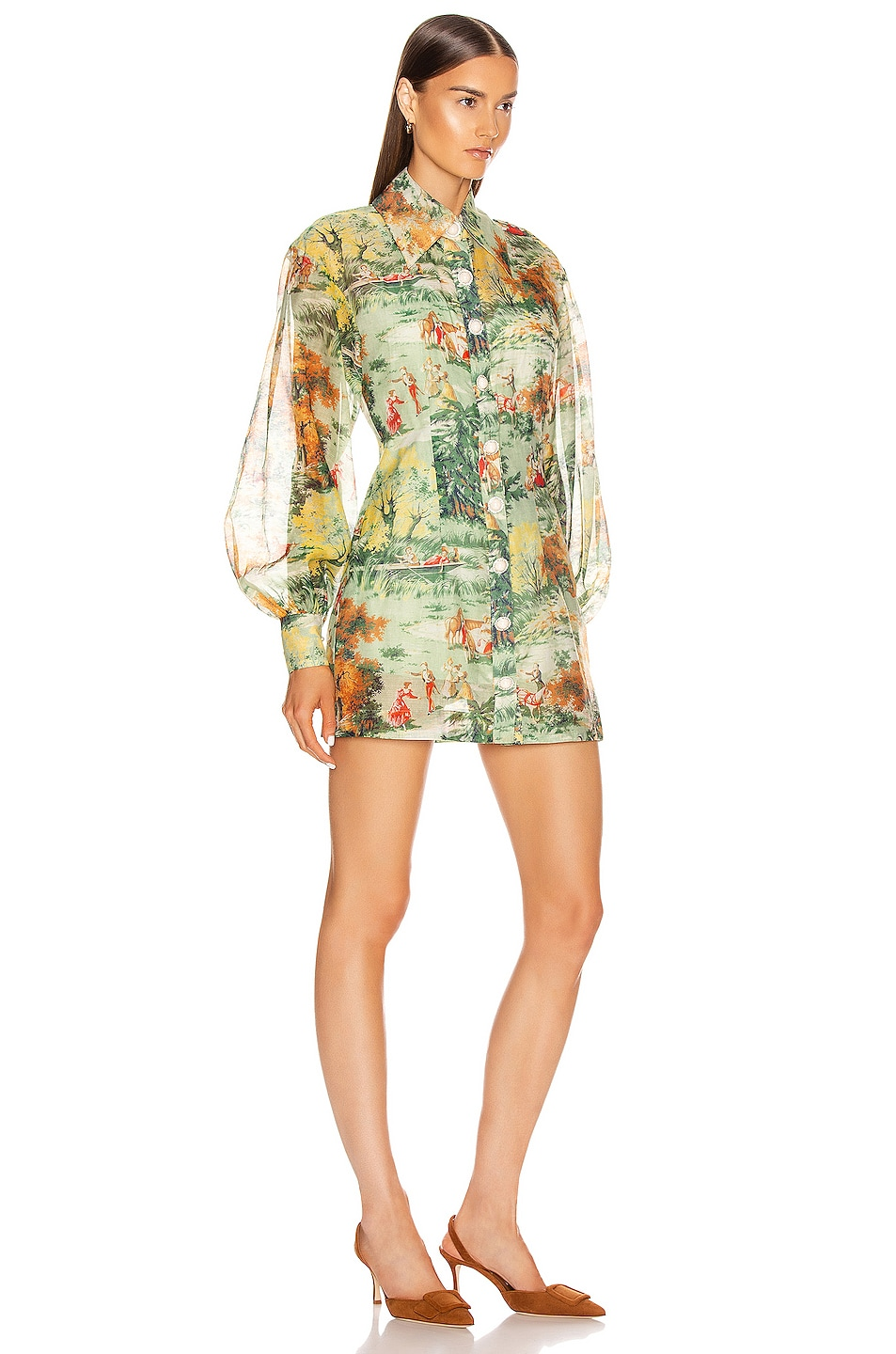 Image 2 of Alice McCall Strange Dreams Shirt Dress in Green