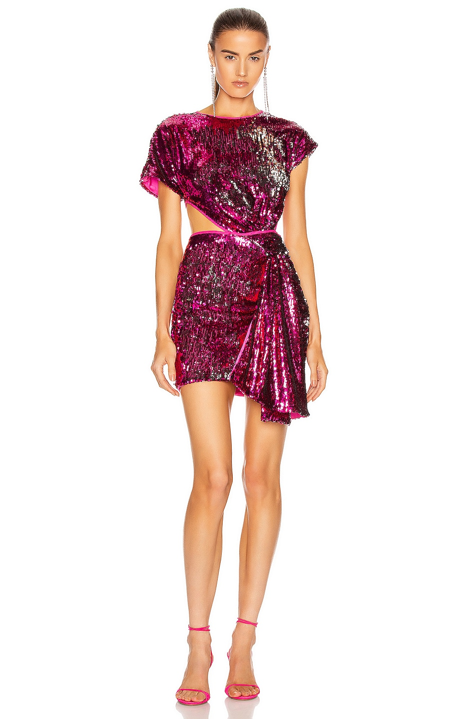 Image 1 of Alice McCall Electric Orchid Mini Knot Dress in Dahlia