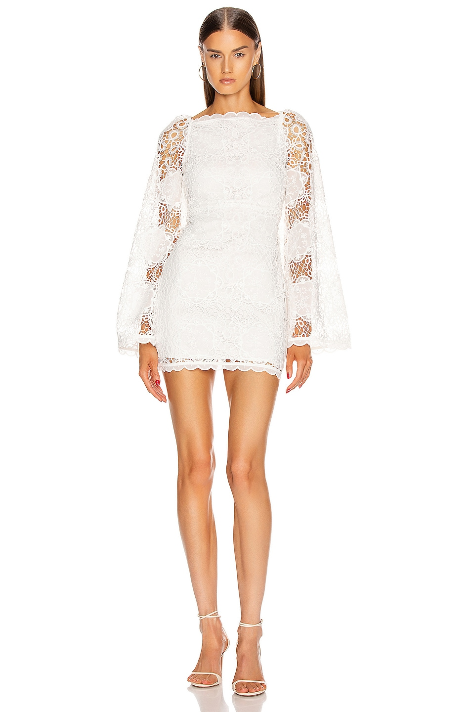 Image 1 of Alice McCall Diamond Veins Mini Dress in Porcelain