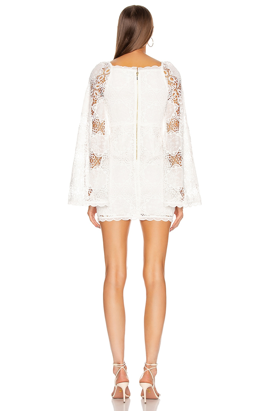 Image 3 of Alice McCall Diamond Veins Mini Dress in Porcelain