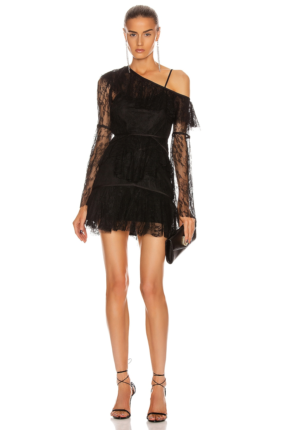 Image 1 of Alice McCall Shadow Love Mini Dress in Black