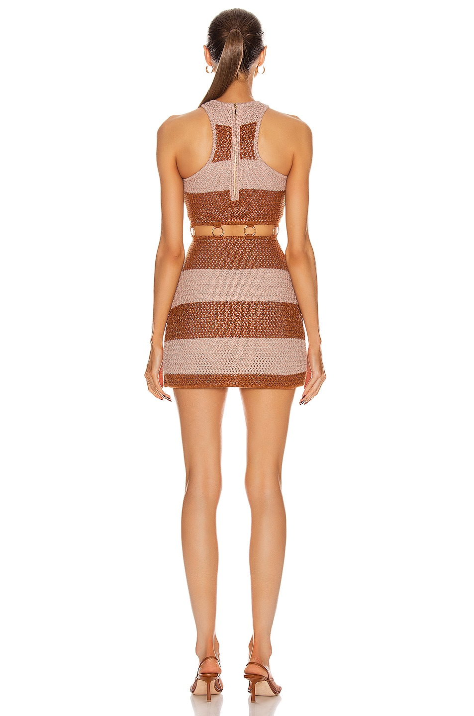 Image 3 of Alice McCall Stone Roses Mini Dress in Tea Rose