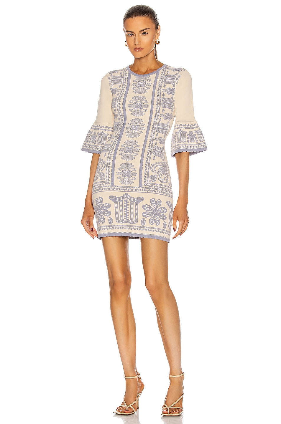 Image 1 of Alice McCall Devotion Long Sleeve Dress in Oatmeal
