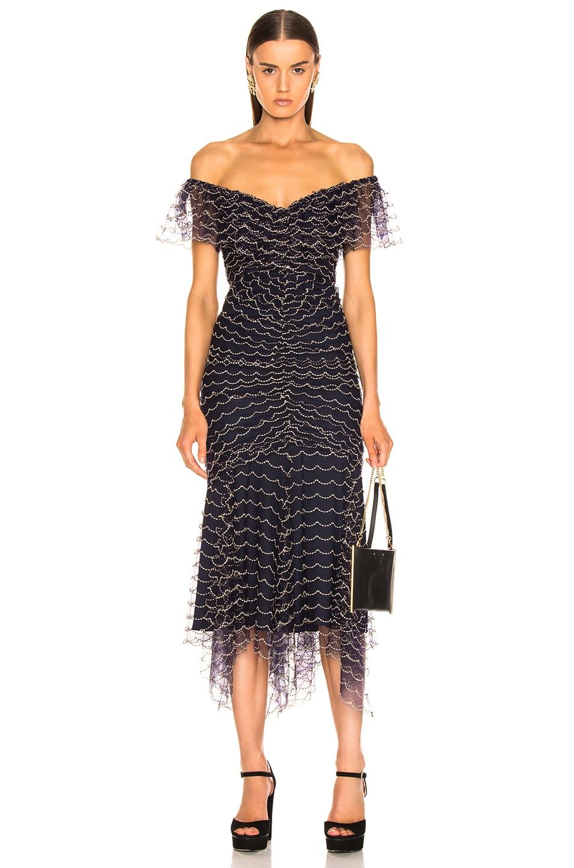 Image 1 of Alice McCall Valentine Midi Dress in Indigo