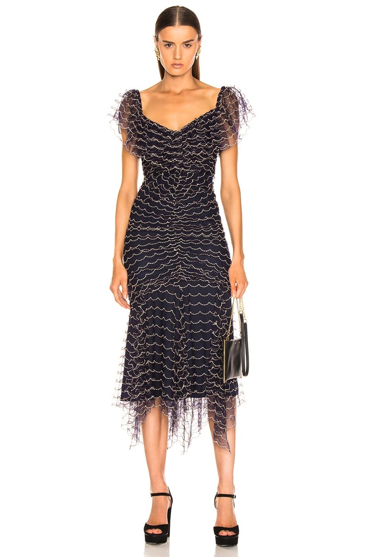 Image 2 of Alice McCall Valentine Midi Dress in Indigo