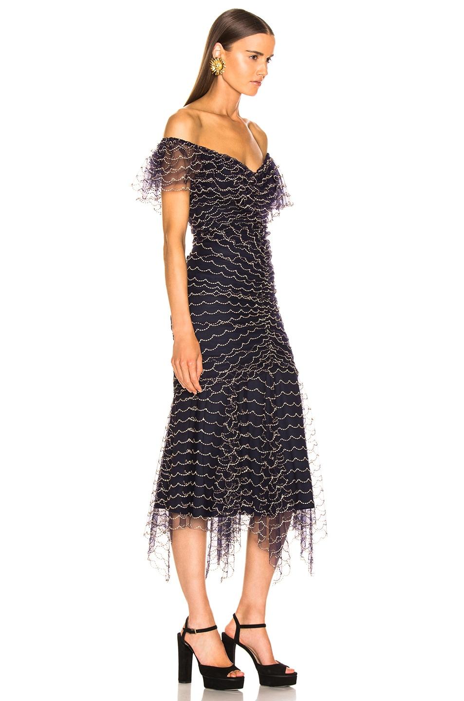 Image 3 of Alice McCall Valentine Midi Dress in Indigo