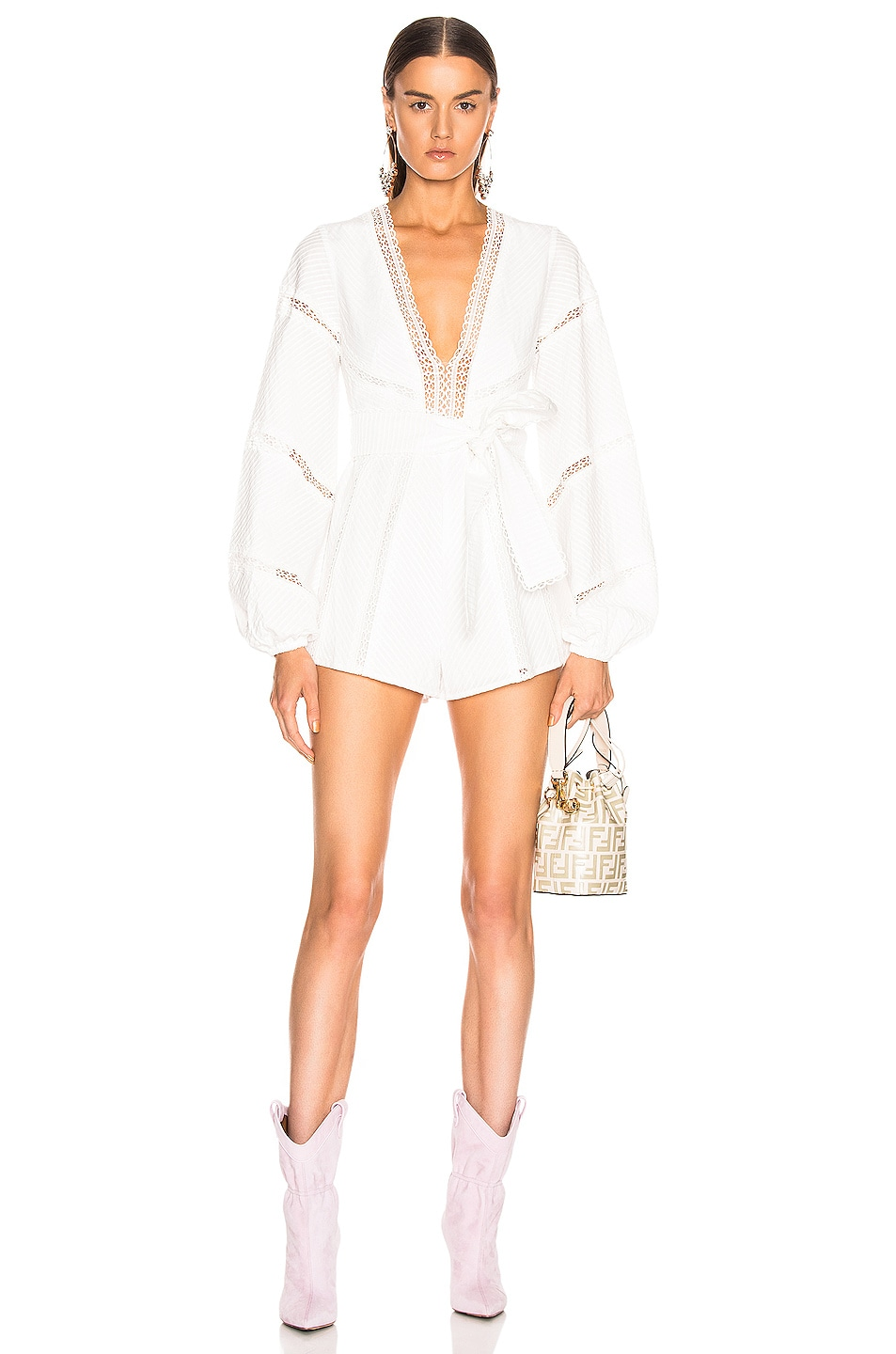 Image 1 of Alice McCall A Foreign Affair Playsuit in Porcelain