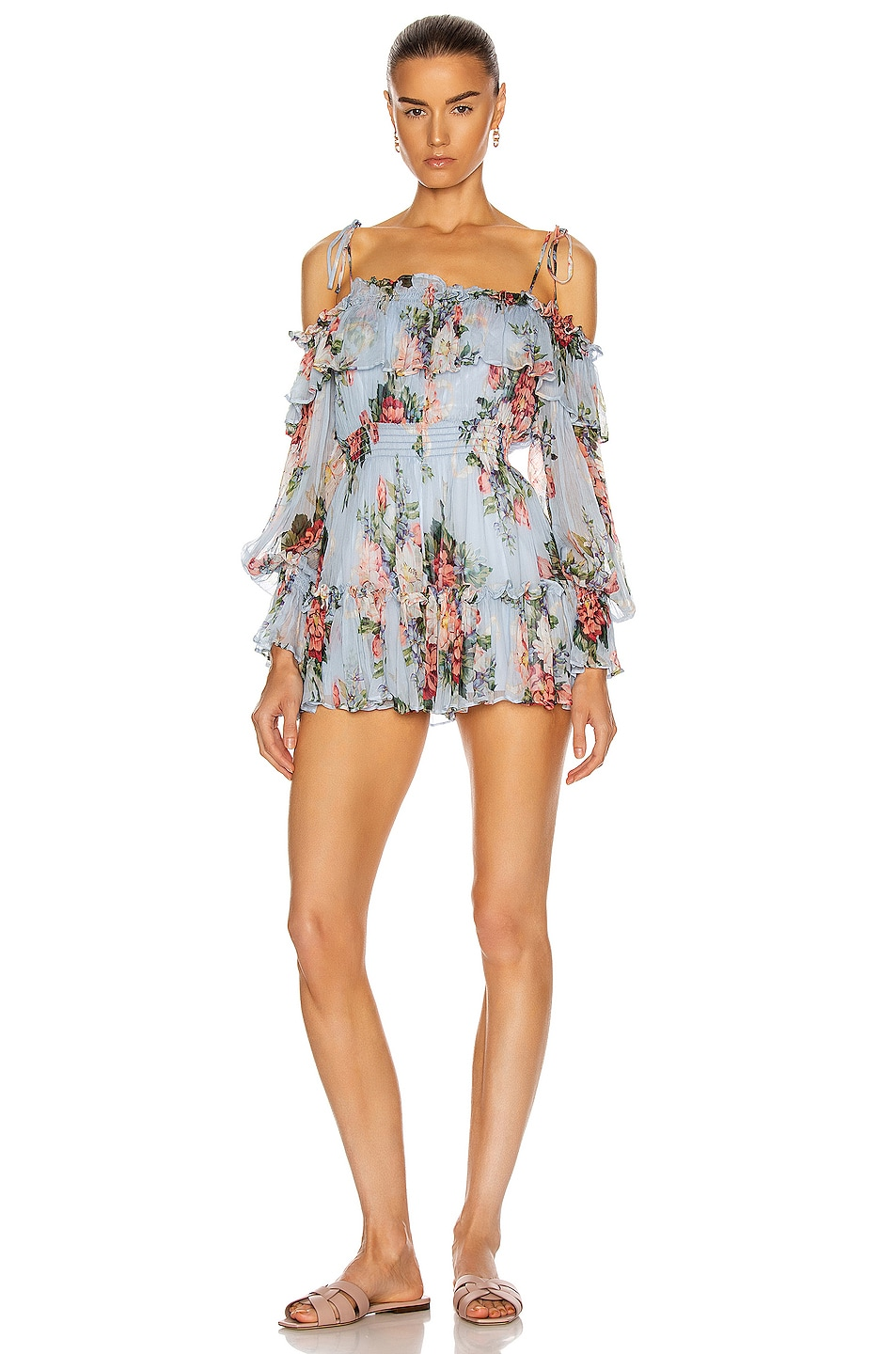 Image 1 of Alice McCall Pretty Things Playsuit in Dove Blue
