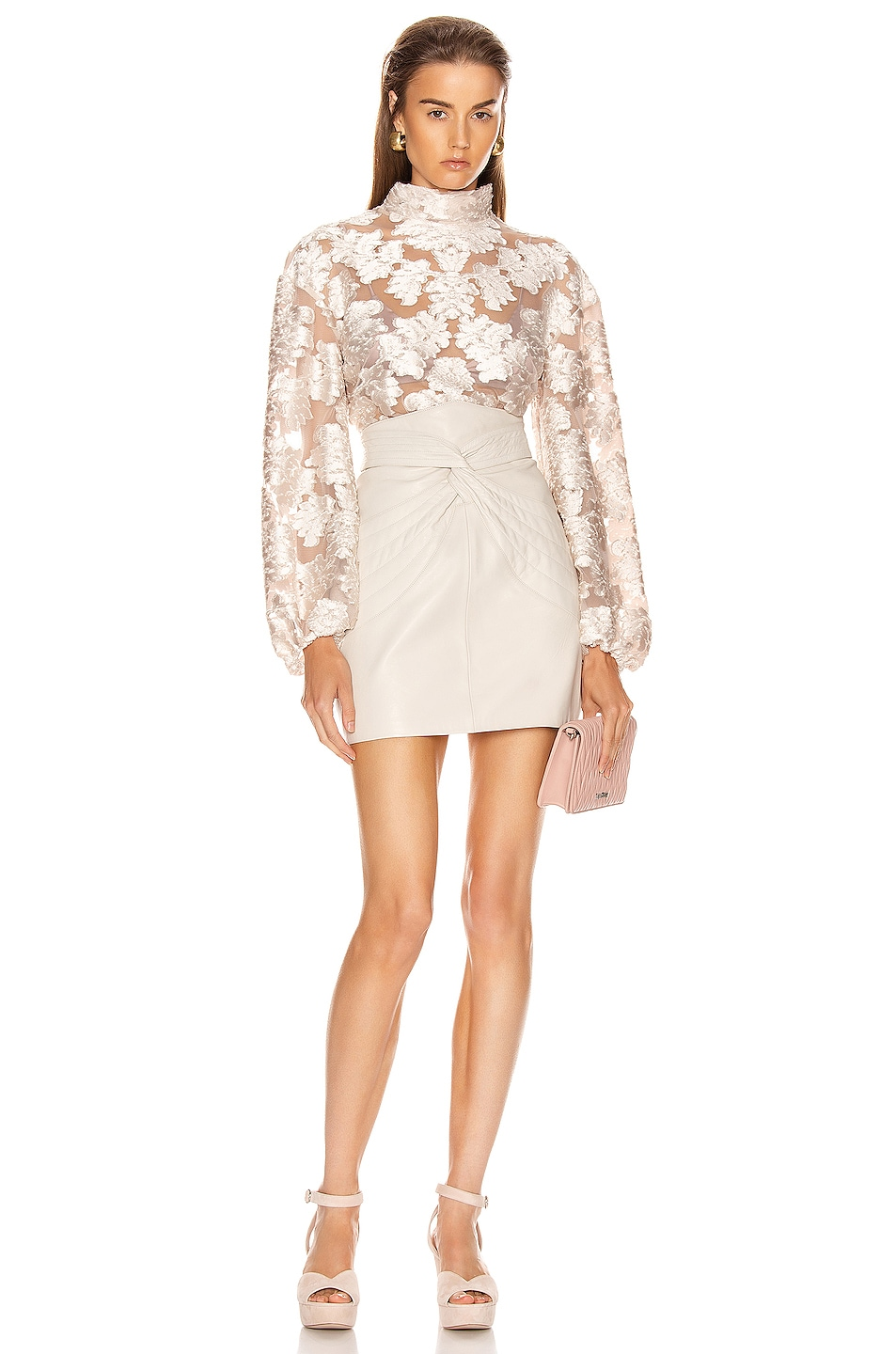 Image 4 of Alice McCall Magic Moonlight Bell Sleeve Top in Linen