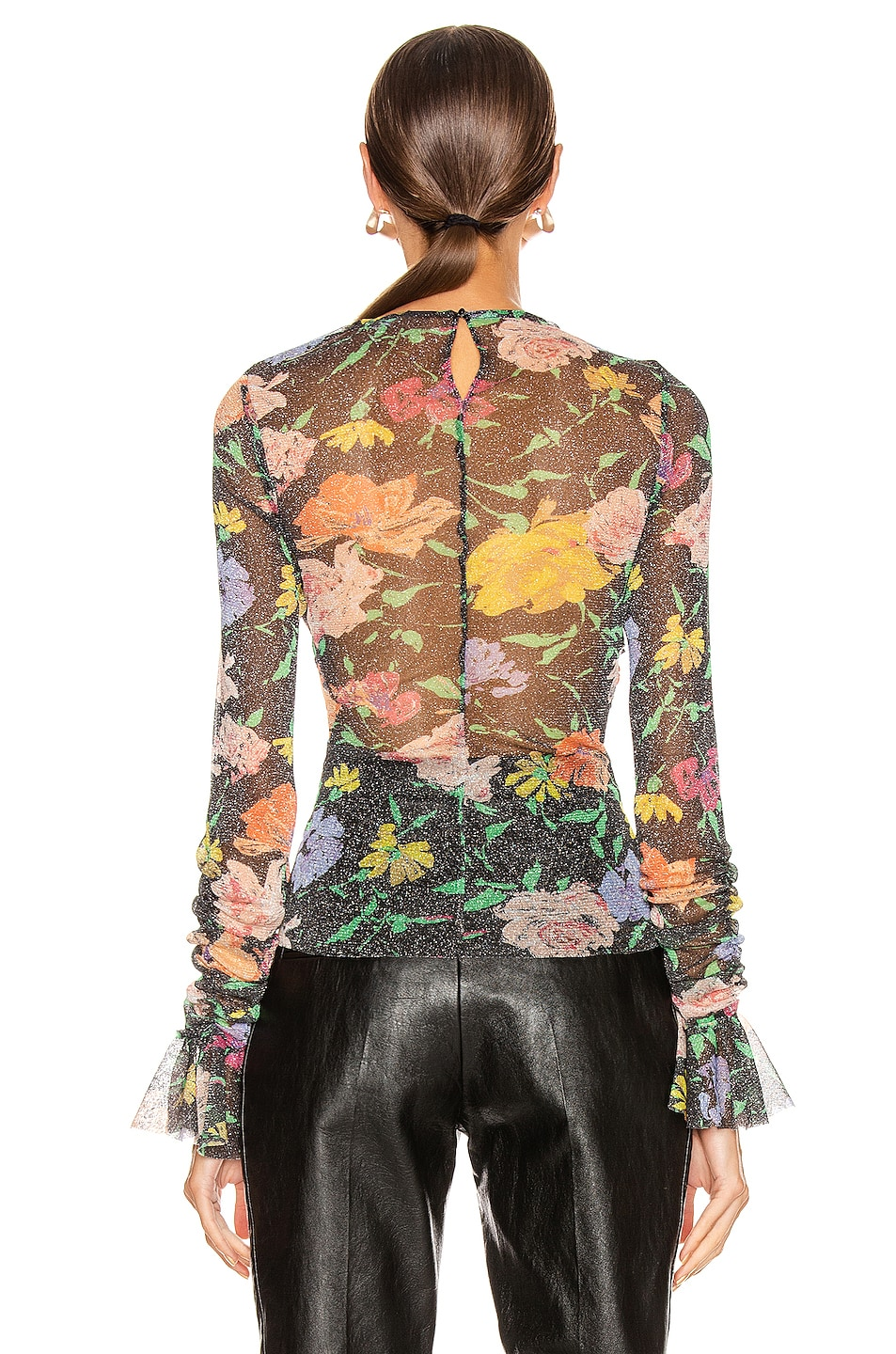 Image 3 of Alice McCall Cosmic Dancer Long Sleeve Top in Black Floral