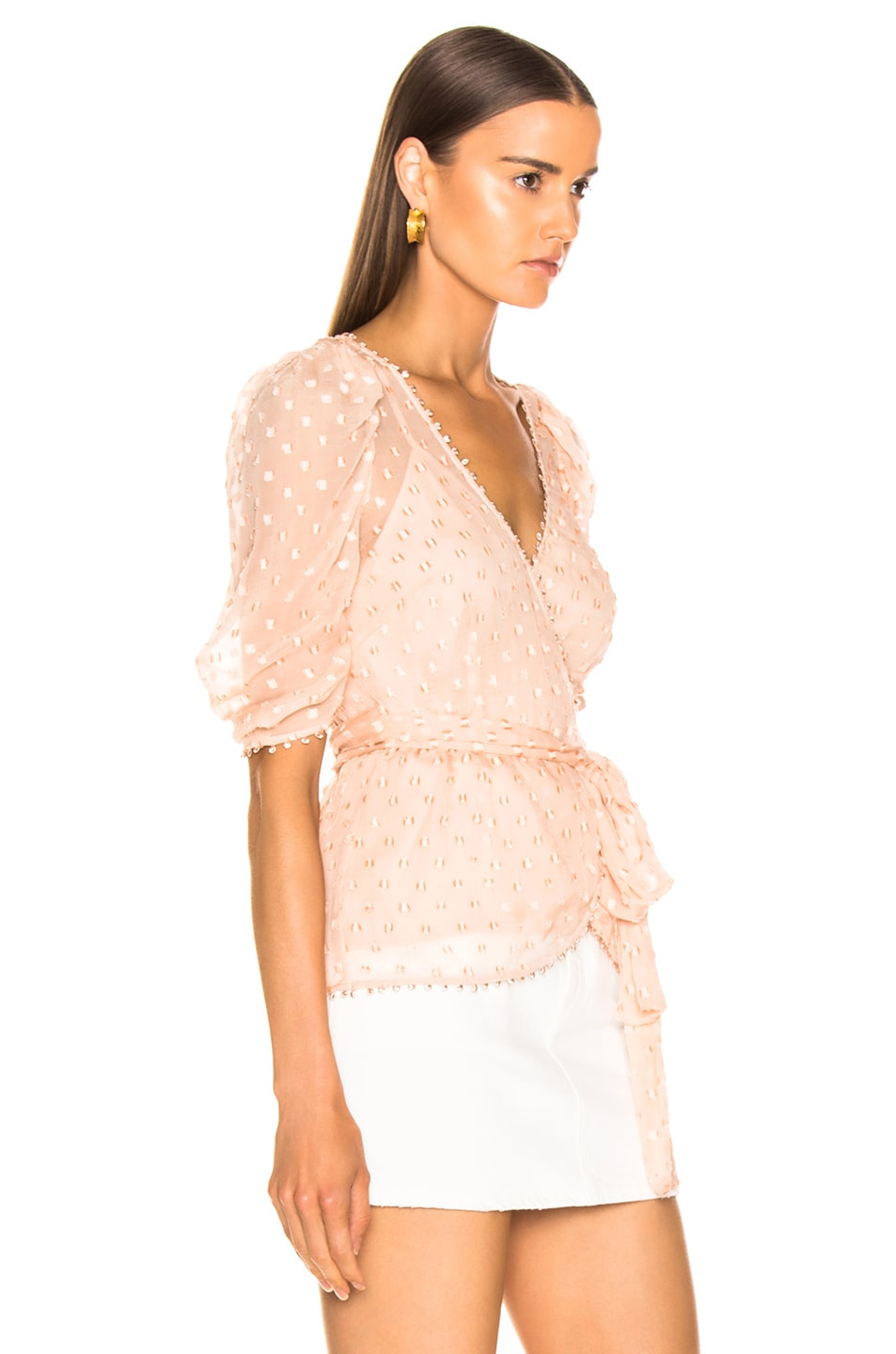 Image 2 of Alice McCall Moon Talking Wrap Blouse in Nude