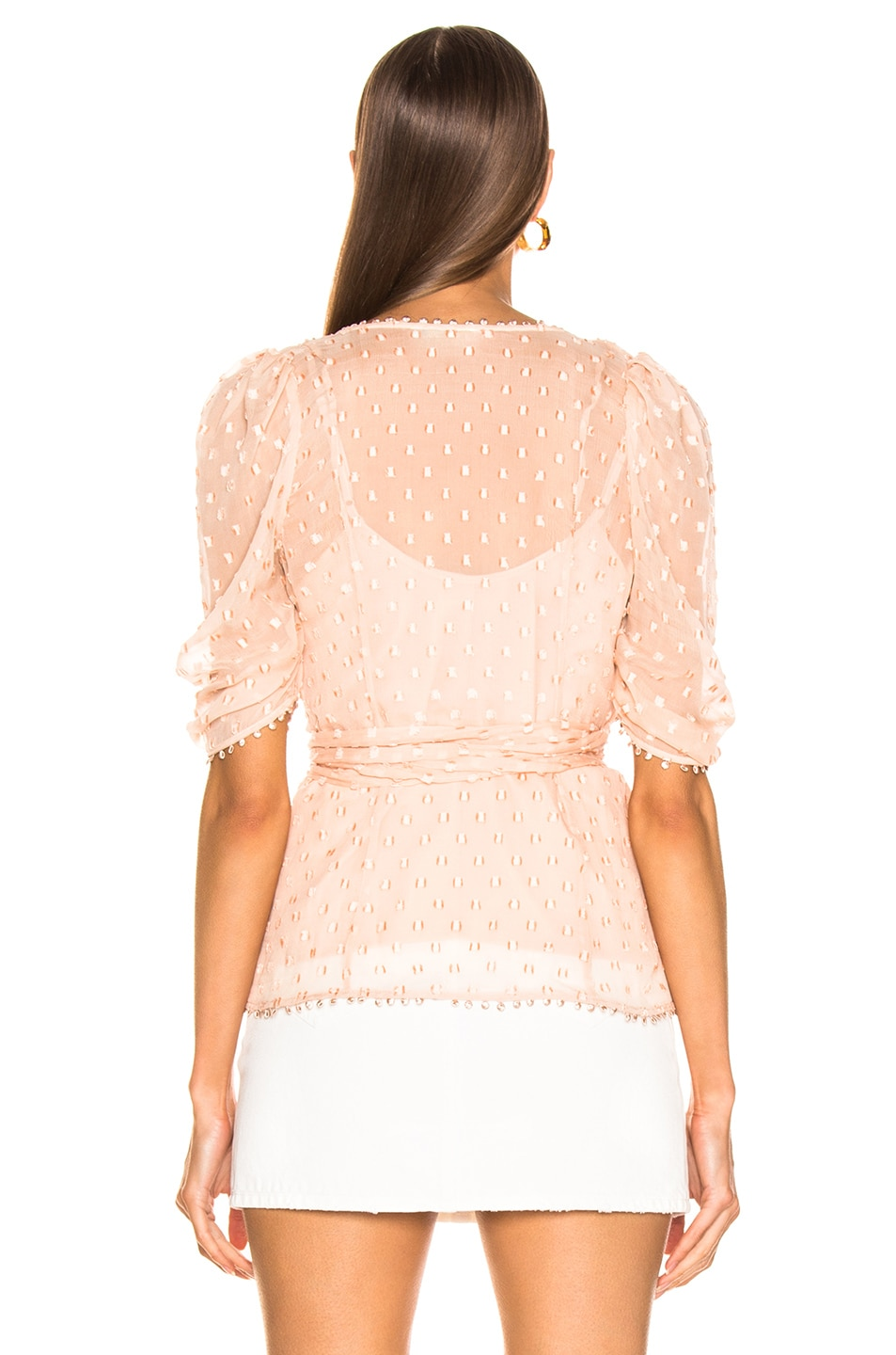 Image 3 of Alice McCall Moon Talking Wrap Blouse in Nude